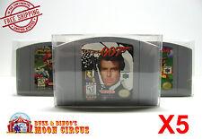 5x NINTENDO 64 CARTRIDGE - CLEAR PROTECTIVE GAME BOX SLEEVE CASE - FREE SHIP!