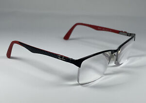 Ray Ban RB8411 Red/Silver Carbon Fiber Rx Eyeglasses 2508 54[]17 140 Frame Only