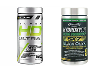 Cellucor SUPER HD ULTRA + Muscletech Ultra PROBIOTIC FAT BURNER WEIGHT LOSS SALE
