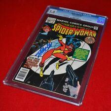 Rare Signé Stan Lee Autographe Marvel Spider-Woman VG Bd 1, Cgc 3.0 , COA 1978