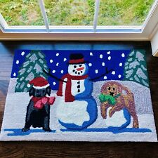 SNOW PUPPIES 20x30 Indoor/Outdoor 2x3 Rug LIORA MANNE Frontporch TransOcean Dogs