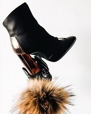 New Ladies Woman Truffle Collection Black Ankle Boots Brown Heel uk 5