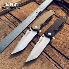 SANRENMU SRM 9001 / 9002 12C27 Blade G10 Handle Folding Knife Outdoor Survival