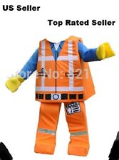 NEW~Lego Man Mascot Costume Movie Emmet Party Dress Fun Cool Cosplay US SELLER!!