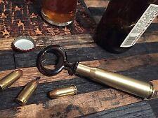REAL Fired 50 Cal Shell Bottle opener Bullet Beer 50 Brass Casing Micro Chrome