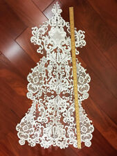 Encaje Floral Aplique blanco crudo BODA Listón de bordado Motivo 1 pieza