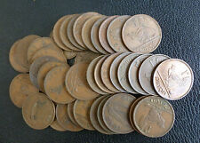 Ireland Éire Bulk lot of 40 Circulated Irish Pre-Decimal Pennies 1928 - 1968