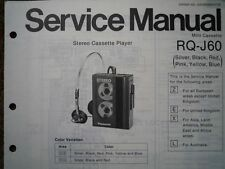 PANASONIC RQ-J60 Stereo Cassette tape Player Service manual wiring parts diagram