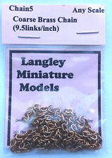 Coarse Chain Ring Link 30 inches Long CHAIN5 Scale Langley Model Kit Accessories