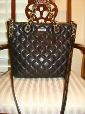 AUTHENTIC KATE SPADE NEW YORK QUILTED BLACK TOTE LEATHER HANDBAG