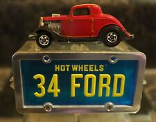 Hot Wheels License Plate Car 34 Ford Red