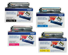 BROTHER TN210BK TN210C TN210Y TN210M TONER SET (4-PACK)