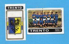 FIGURINA PANINI 1972/73-n.499- TRENTO - SQUADRA+STEMMA/SCUDETTO -Rec
