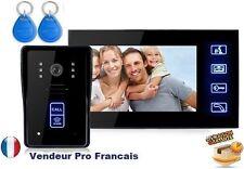 "Portier Visiophone/interphone + Camera Etanche + Moniteur 7"" pouce + carte ID"