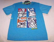 Teenage Mutant Ninja Turtles Boys Blue Printed T Shirt Size 8 New
