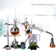 500ml New Lab Pure Water Glassware Apparatus Kits Essential Oil Distillation