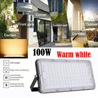 100W LED Flood Light Outdoor Garage Yard Spotlight Garden Security Lighting IP66