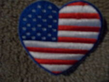 HEART USA AMERICAN FLAG MOTORCYCLE LEATHER VEST JACKET PATCH 4TH OF JULY CHOPPER