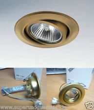 10x Nobile 12V Einbaustrahler Einbauleuchte Halogenstrahler schwenkbar Gold 3840