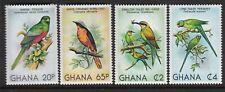 BIRDS Ghana #741-744 Mint NH Complete $11.0 Retail Value Parakeet, Bee Eater