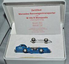 Morem MERCEDES AUTO DA CORSA TRANSPORTER 3010 con w196, 1:87