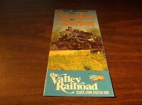 1976 VALLEY RAILROAD TIMETABLE AND BROCHURE