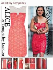 Alice by Temperley Size 12 Red  Cut Out Fitted Dress Sleeveless Party ASO