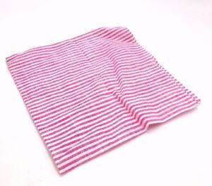$125 Tommy Hilfiger Men`S Stripe Red White Handkerchief Dress Suit Pocket Square
