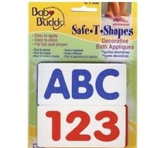 Safe-T-Shapes ABC123 Feet Non-Slip Safety Applique Decal Stickers Bath Tub Showe