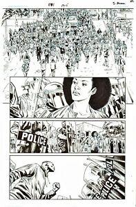 JACKSON GUICE 2017 BLACK PANTHER ORIG. INK ART-RACIAL INJUSTICE PROTESTS!