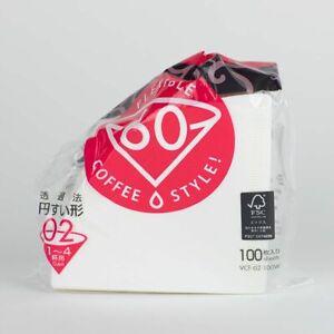 HARIO Papierfilter weiß für V60-02, 100 Stück