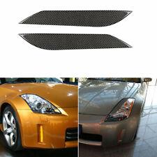 Carbon Fiber Car Headlight Lamp Eyebrow Sticker For 03-09 NISSAN 350Z All Models