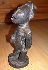 African Bakongo Tribe Protective Male Statue Wood Fetish Collected Congo, Africa