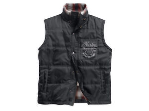 Harley-Davidson Black Label Mens Slim Fit Quilted Lined Vest 97585-16VM 3X