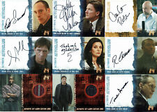 24 Seasons 1 to 5 Autograph Costume Prop Card Selection - Cheapest on Ebay