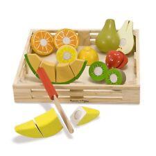 Melissa & Doug Cutting Fruit Set 4021 Wooden Play Food Kitchen Accessory New