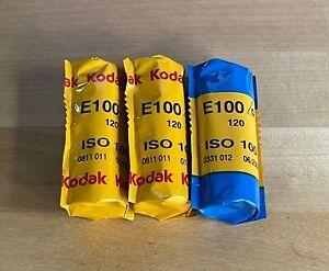 Kodak Ektachrome E100G Color slide film 120 3 rolls FROZEN