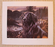 "MICK CAWSTON SIGNED LIMITED EDITION PRINT  ""FLAT COAT IN THE BULRUSHES"""