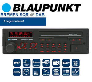 Blaupunkt Bremen SQR 46 DAB retro car stereo with Bluetooth DAB USB & AUX input