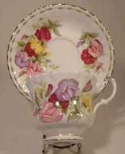 Royal Albert Flowers Of The Month Cup And Saucer April Sweet Pea