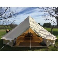 5M Canvas Bell Tent Waterproof Glamping Luxury Yurt Tent 4Season Camping Outdoor