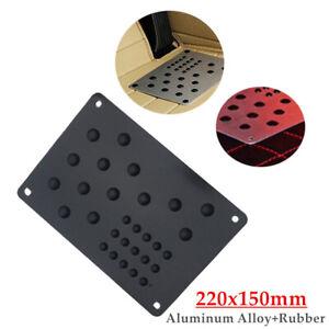 Universal Aluminum Truck Floor Mat Carpet Heel Plate Foot Pedal Rest 220x150mm