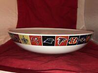 "Pottery Barn Rare NFL  Logo Big 16"" Party / Chip / Serving Bowl EC"