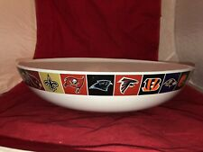 "Pottery Barn Rare NFL  Logo Big 16"" Party / Chip / Serving Bowl EC"