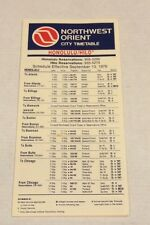Vtg Northwest Orient Timetable Airline City Honolulu Hilo 1976 Airport Airplane