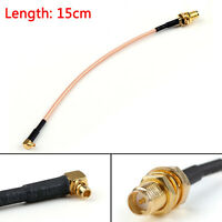 15cm RG316 Cable RP SMA Female Plug To MMCX Male Right Angle Pigtail 6in FPV USA