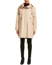 Helmut Lang Womens  Shearling-Trim Utility Coat, L, Beige