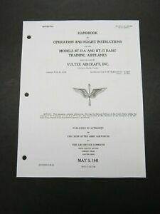 1941 AAF Vultee BT-13A BT-15 Pilot's Aircraft Flight Operating Manual