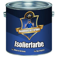 Goldmeister Farben Isolierfarbe hochwertige Nikotinsperre Antischimmelfarbe weiß
