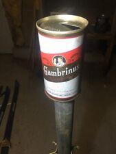 VTG Gambrinus straight steel beer can 70's Columbus Ohio August Wagner Breweries